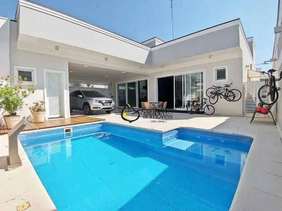 Casa Com 3 Dormitórios À Venda, 275 M² Por R$ 1.700.000 - Condomínio Villa Lobos - Paulínia/sp - Ca1112