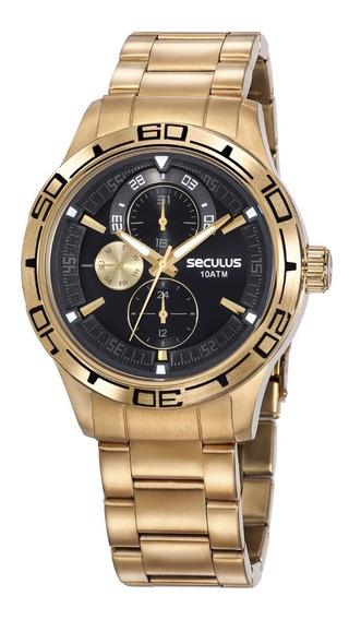 Relógio Seculus Masculino 13041gpsvda1