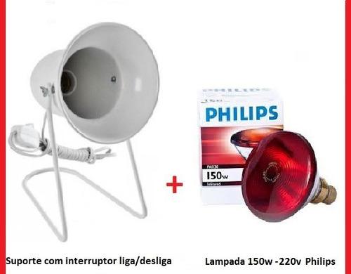 Kit Fisioterapia Suporte Infra + Lampada Philips 150w 220v