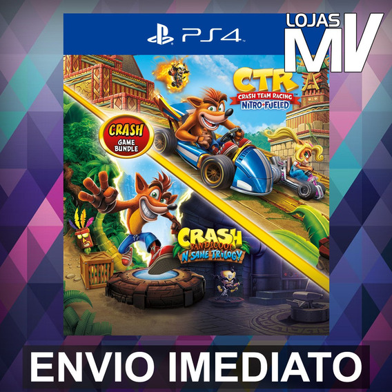 Crash Bandicoot Trilogy + Ctr - Ps4 Código 12 Dígitos