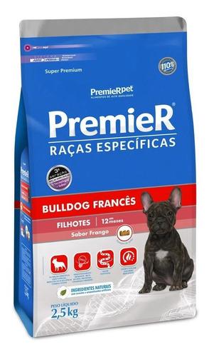 Ração Premier Raça Espec.bulldog Francês- Filhote Frango 2,5