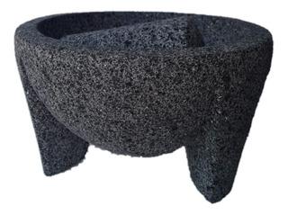 Molcajete Piedra Volcánica Mexicano Artesanal Acabado Fino