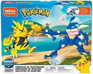 Mega Construx Pokemon Greninja Vs. Electabuzz