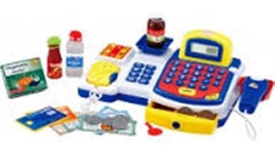 Caixa Registradora Infantil Mini Mercado Cartão Azul Meninos
