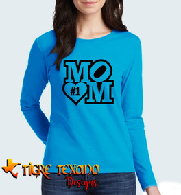 Playera Manga Larga Mamás Mom Madres M.5 T T Designs