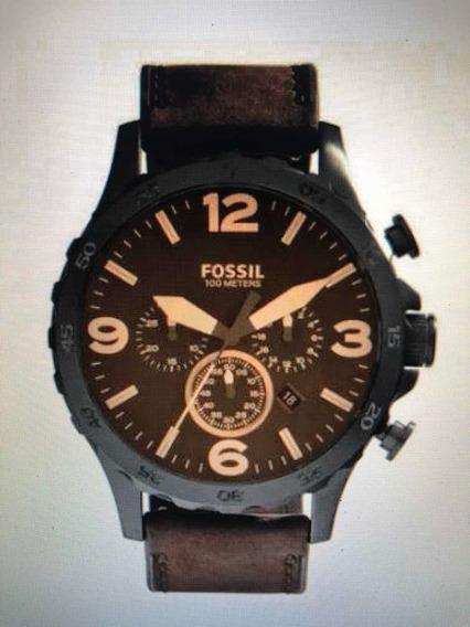 Relógio Masculino Fossil Pulseira Couro Garantia E Embalagem