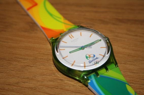 Relógio Swatch Rio 2016 Edição Especial, Raridade Muito Lindo. Novo.