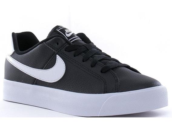 Zapatillas Nike Court Royale Ac Black White - Mujer