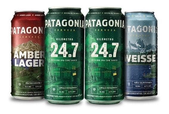 Cerveza Patagonia 473 Cc 4 Unidades