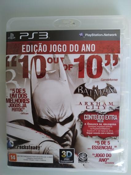 Batman Arkham City Ps3 Original Mídia Física
