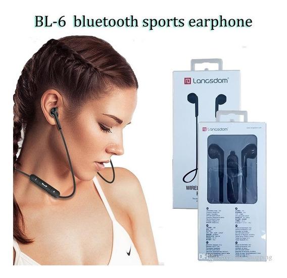 Fone De Ouvido Bluetooth 5.0 Profissional Langsdom Bl6 Iphon