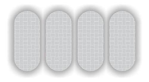 Imagem 1 de 2 de 10 Cartelas Etiqueta Refletiva P/ Capacete Sherman  7cm