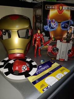 Hero Vision Iron Man + Gemas Infinito Extra Y Muñecos