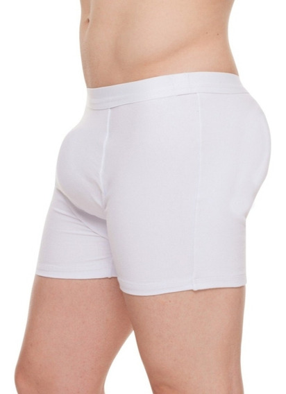 Cueca Boxer Branca Com Enchimento Traseiro E Frontal