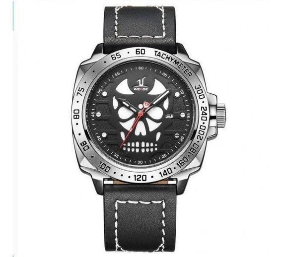 Relógio Masculino Weide Analógico Uv-1510 - Preto, Prata E B