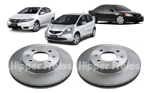 Imagem 1 de 6 de Par Disco Freio Dianteiro Honda Civic Sedan Dx 1.6 16v 93...