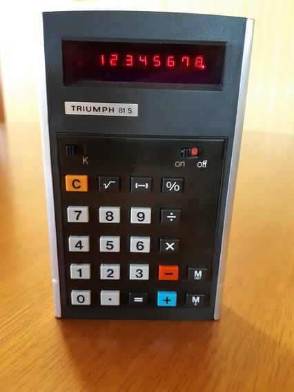 Calculadora Triumph 81 S Germany 1975 Nurnberg D8500 Vintage