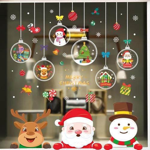 Decoración De Navidad Pegatinas Navideñas Adhesivas Ventana