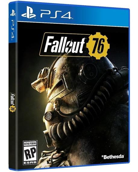 Jogo Fallout 76 Ps4 Midia Fisica Cd Original Novo Português