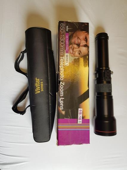 Lente Vivitar 650-1300 Mm Para Canon Telephoto Zoom F/8-16