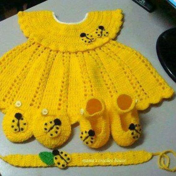 Vestido De Croche Para Bb