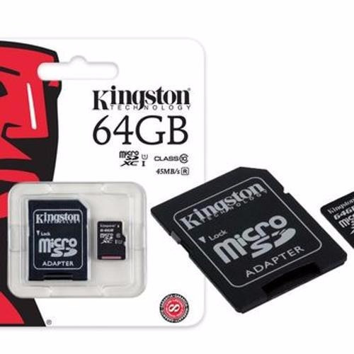 Cartão Microsdhc Kingston 64gb Classe 10 Original Nota Fisc