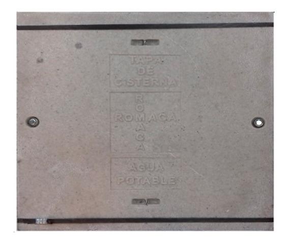 Tapa Cisterna Poli Concreto C/pernos 60x60 Romaca