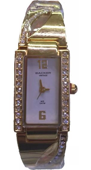 Relógio Backer Feminino Vintage 3465147l Br Original Barato