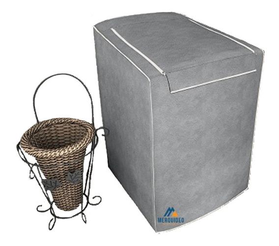 Capa Máquina Lavar C/ Zíper Flanelada - Todos Os Tamanhos