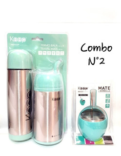 Combo Mate Listo + Mate Con Bombilla 230ml Keep
