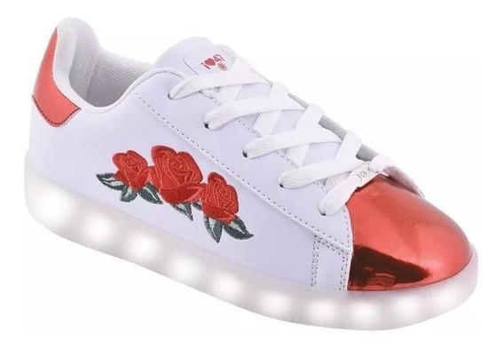 Zapatillas 47 Street Con Luces Led Usb Flores Fty Calzados