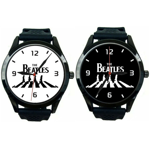 Kit 2 Relógios Pulso Esportivo Masculino The Beatles Barato