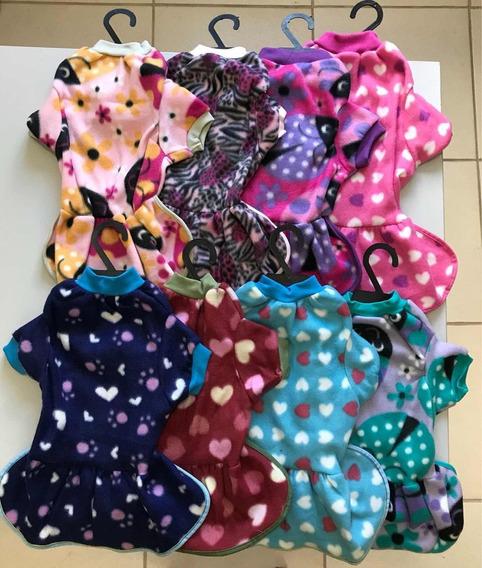 Kit 4 Vestidos Roupas Soft Pet Tam. 6 E 8 Para Cachorro