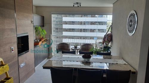 Imagem 1 de 10 de Excelente Apartamento Decorado - Venda - Edifício London Ville - 18 Do Forte Em Alphaville: 107m² - 03 Dorms - 02 Vagas - 690