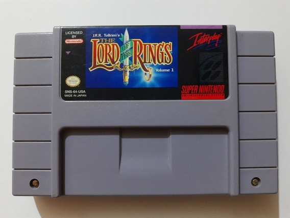 The Lord Of The Rings Volume 1 Snes Original E 100% Ok