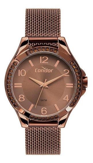 Relógio Condor Feminino Bracelete Marrom Co2035mtm/4m