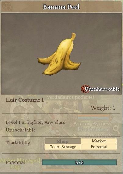 Banana Pell - Item Tree Of Savior (tos) [sa] Silute Hat