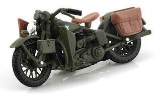 Harley Davidson Maisto 1942 Wla Flathead 1:18 Militar