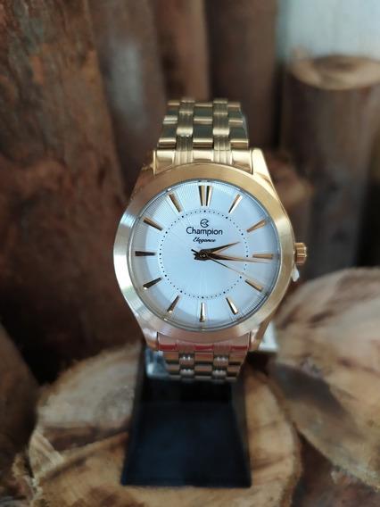 Relógio Feminino Champion Mod Cn25378h - Dourado