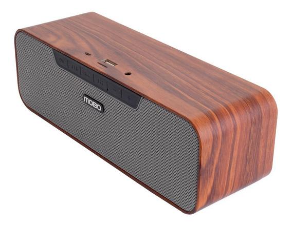 Bocina Bluetooth Mobo Wood 4hrs Musica Nfc Para Usb/micro Sd