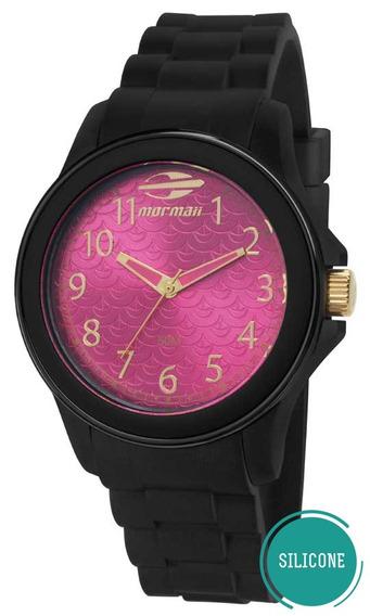 Relógio Mormaii Feminino Mo2035cq/8q Preto Pink Oferta