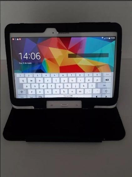 Tablet Samsung Galaxy 3g Tela 10.1 Tm531 16gb Tab 4 Branc