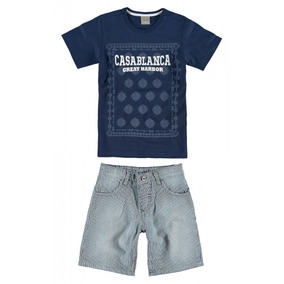 2431b72afb Conjunto Infantil Masculino Marinho Casablanca Carinhoso