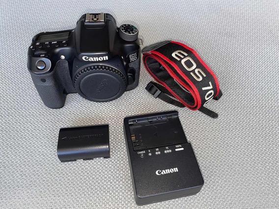 Câmera Canon 70 D Usada Com Nota Fiscal, 30.145 Cliques.