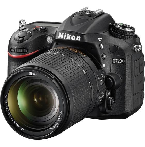 Câmera Nikon D7200 18-140mm (pronta Entrega ) 12x Sem Juros