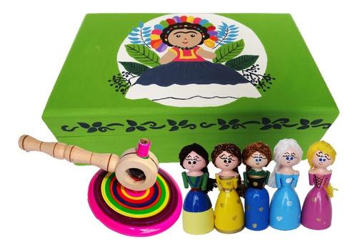 1 Paquete Artesania Mexicana: Alhajero, Princesas, Salpicada