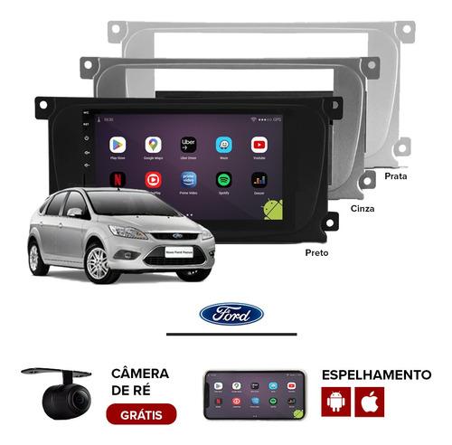 Central Multimídia Android Ford Focus Moldura Original