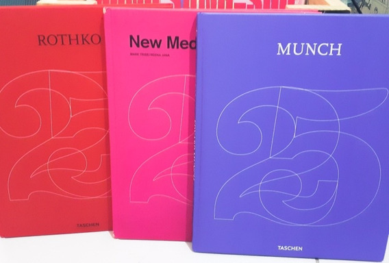 Lote Taschen 3 Livros De Arte: Rothko, Munch New Media Art