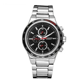 Relógio Analógico Quartzo Aço Inox Importado Masculino Prata