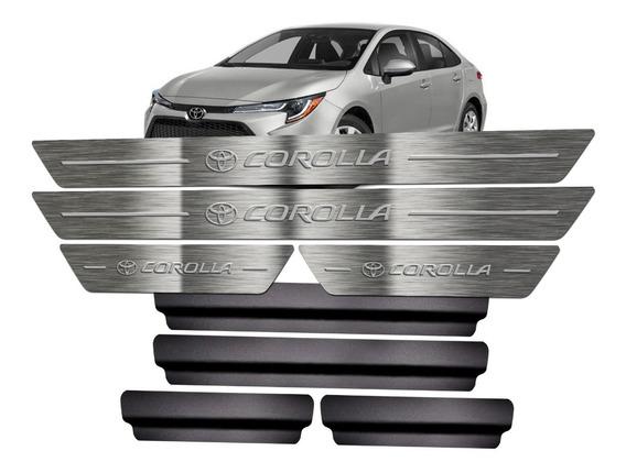 Soleira Aço Inox Puro Toyota Corolla 2020 + Vinil